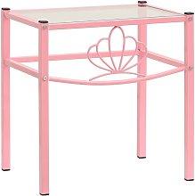 Bedside Cabinet Pink&Transparent 42.5x33x44.5 cm