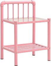Bedside Cabinet Pink&Transparent 45x34.5x62.5 cm