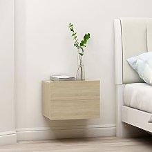 Bedside Cabinet Sonoma Oak 40x30x30 cm Chipboard -
