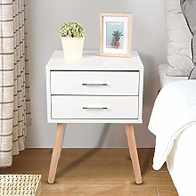 Bedside Cabinet,Stable Bedside Table with 2