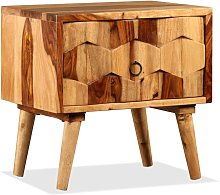Bedside Cabinet with 1 Drawer Solid Sheesham Wood