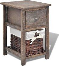 Bedside Cabinet Wood Brown - Brown - Vidaxl
