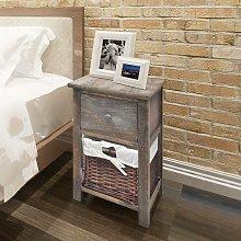 Bedside Cabinet Wood Brown VD09482 - Hommoo