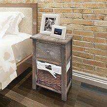 Bedside Cabinet Wood Brown