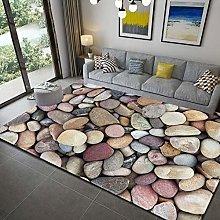 Bedside Carpet Area Rug 3D Stone Pattern 10MM /