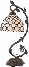 Bedside Lamp Stained Glass Shade Tiffany Table