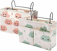 Bedside Organiser Pocket, 2 Pcs Bedside Pocket