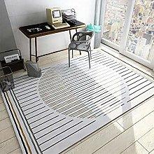 Bedside Rug Simple Striped Mildew Proof Carpet