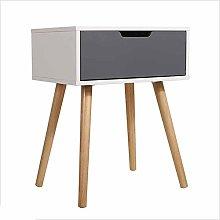 Bedside Simple Solid Wood Leg Storage Cabinet Bed