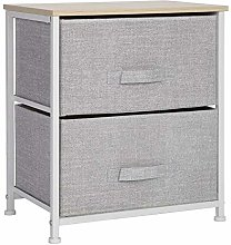 Bedside Table Chic Nightstand Cabinet Storage Unit
