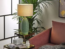 Bedside Table Lamp Green and Grey Ceramic 59 cm