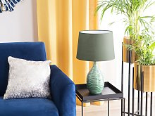 Bedside Table Lamp Light Green Ceramic Base