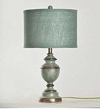 Bedside Table Lamp, Linen Shade Warm Light