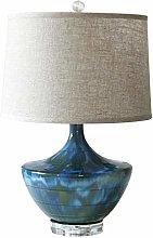 Bedside Table Lamps Blue Vase Desk Lamp Bedroom