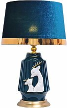 Bedside Table Lamps Modern Hand Painted Deer Table