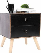 Bedside Table Retro Bedside Table Compact Floor