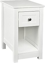 Bedside Table with Drawer and Shelf Cabinet
