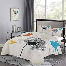 Bedspreads Coverlet Avian Animal Silhouettes with