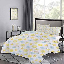Bedspreads Coverlet Happy Smiling Moon and Stars