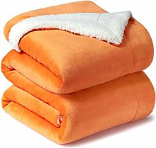 Bedsure Sherpa Throw Bed Blanket Large Orange