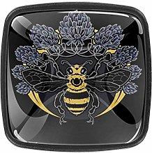Bee Drawer Knob Pull Handle Crystal Glass Circle