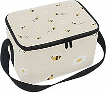 Bee Lunch Box Insulated Lunch Bag Large Cooler
