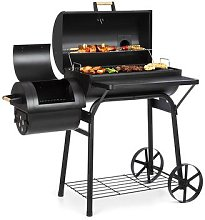 Beef Brisket Smoker Grill Thermometer Wheels Black