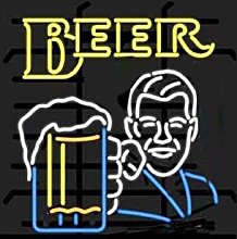BEER Real Glass Neon Light Sign Home Beer Bar Pub