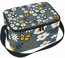 Bees Bugs Lunch Box Insulated Lunch Bag Large