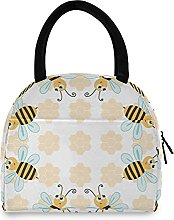 Bees Lunch Bag Cooler Bag Insulated Lunch Box