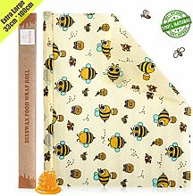 Beeswax Food Wrap Roll/Cut to Size 1.25M Roll -