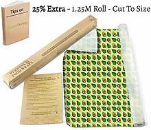 Beeswax Food Wrap Roll/Cut to Size 1.25M Roll &