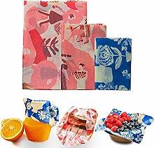 Beeswax Wrap | Set of 3 Organic Food Storage Wraps
