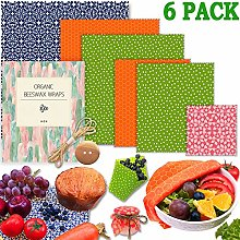 Beeswax Wrap-Set of 6 Pack (1 Extra Large, 2