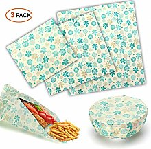 Beeswax Wrap Wax Wraps Set of 3 Beeswax Food Wraps