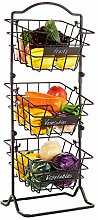 Befano 3-tier Fruit Basket, Fruit Stand with 3