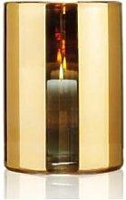 Behagligt - Large Gold Hurricane Lamp - Gold