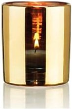 Behagligt - Small Gold Hurricane Lamp - Gold