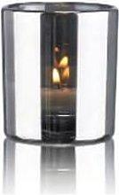 Behagligt - Small Silver Hurricane Lamp - Silver