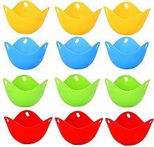 behone 12 Pcs Silicone Egg Poacher Cups,Egg Boiler
