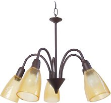 Behrendt 5-Light Shaded Chandelier Marlow Home Co.