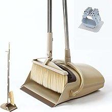 BEI & HONG Dustpan and Brush Set Long Handled,
