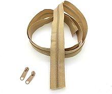 Beige Continuous Zip & Sliders No. 5 Zippers