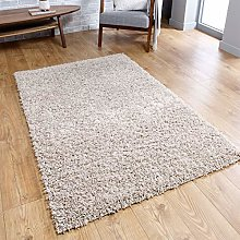 Beige Fluffy Rug Shaggy Carpet for Bedroom Living