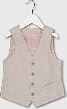 Beige Linen-Blend Waistcoat - 13 years