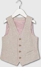 Beige Linen-Blend Waistcoat - 4 years