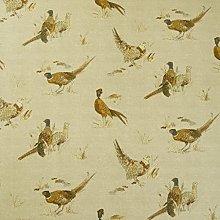 Beige/Natural Pheasants Matte Finish Oilcloth Wipe