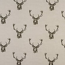 Beige/Natural Stags Oilcloth Wipe Clean Tablecloth