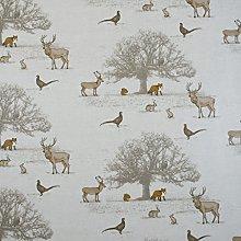 Beige / Natural Woodland Animals Oilcloth Wipe
