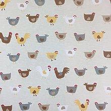 Beige Novelty Chick Cotton Rich Linen Look Fabric